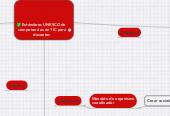 Mind map: Estándares UNESCO de  competencias en TIC para docentes