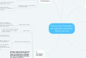 Mind map: Planejamento Estratégico para pequenas empresas. Estudo de Caso