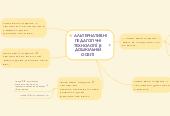 Mind map: АЛЬТЕРНАТИВНІ ПЕДАГОГІЧНІ ТЕХНОЛОГІЇ В ДОШКІЛЬНІЙ ОСВІТІ