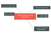 Mind map: CARACTERISTICAS DEL MONITOR