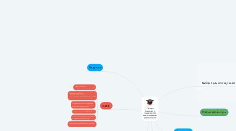 Mind Map: Общие подходы  к содержанию магистерской диссертации