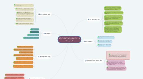 Mind Map: ASISTENCIA DURANTE LA MICCIÓN