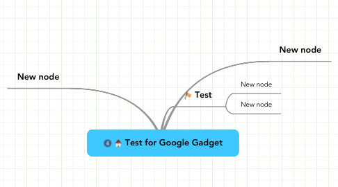 Mind Map: Test for Google Gadget