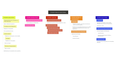 Mind Map: PODER PUBLICO NACIONAL