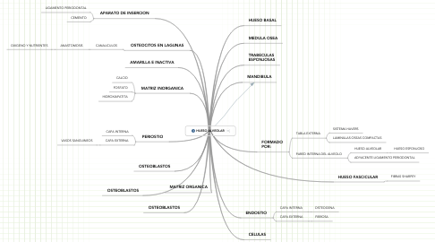 Mind Map: HUESO ALVEOLAR