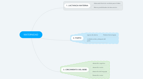Mind Map: MATERNIDAD