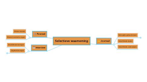 Mind Map: Selectieve waarneming