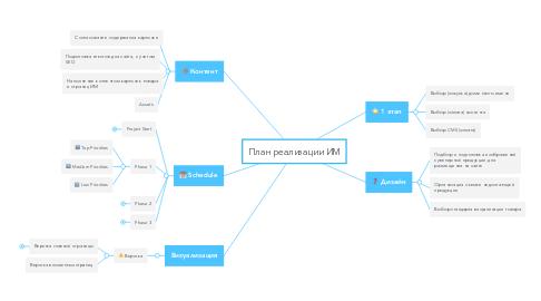 Mind Map: План реализации ИМ