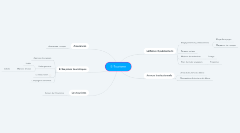 Mind Map: E-Tourisme