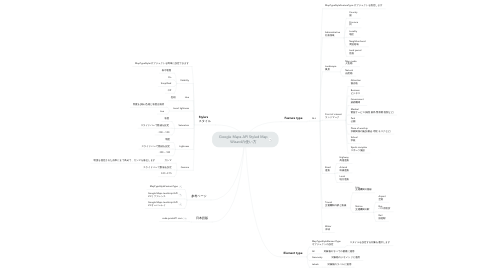 Mind Map: Google Maps API Styled Map Wizardの使い方