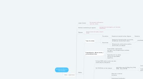 Mind Map: INTRODUCCIÓN A LA HISTOLOGÍA