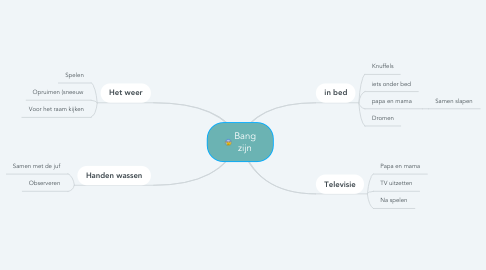 Mind Map: Bang zijn