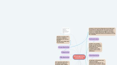 Mind Map: Microorganismos procariontes