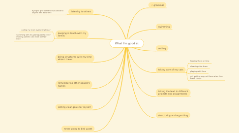 Mind Map: What I'm good at