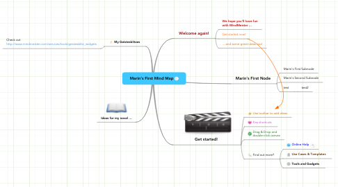 Mind Map: Marin's First Mind Map