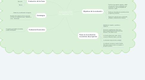 Mind Map: EVALUACIÓN DE PROYECTO