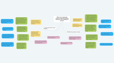 Mind Map: What is the relationship between drug testing being necessary and it invading our privacy?