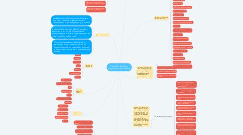 Mind Map: Control interno en la organización empresarial