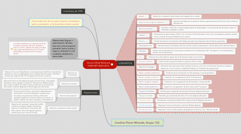 Mind Map: Norma Oficial Mexicana NOM-007-SSA2-2016