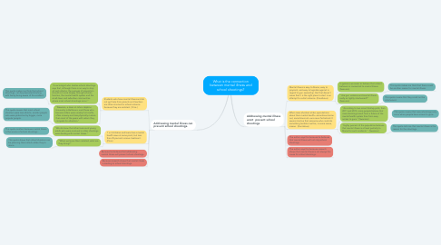Mind Map: What is the connection between mental illness and school shootings?