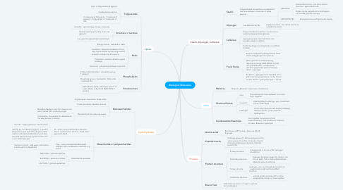 Mind Map: Biological Molecules
