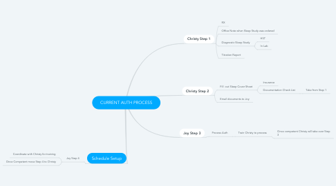 Mind Map: CURRENT AUTH PROCESS