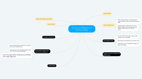 Mind Map: Government Mitigation on Climate Change