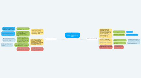 Mind Map: what is the relationships guns on campus or school safety?