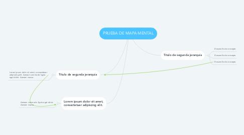 Mind Map: PRUEBA DE MAPA MENTAL