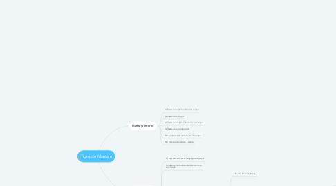 Mind Map: Tipos de Montaje