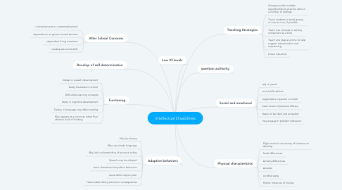 Mind Map: Intellectual Disabilities