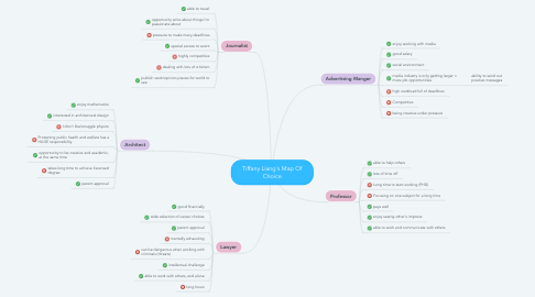 Mind Map: Tiffany Liang's Map Of Choice