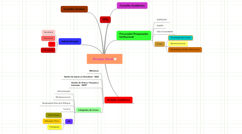 Mind Map: Direção Geral