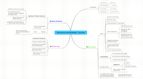 Mind Map: New Sciences meet Old Wisdom - a first step