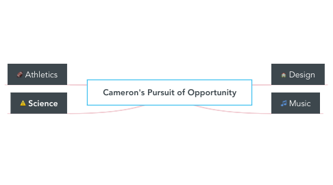 Mind Map: Cameron's Pursuit of Opportunity
