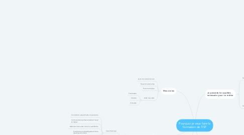 Mind Map: Pourquoi je veux faire la formation de TISF