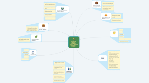 Mind Map: POLITICA DE GESTIÓN AMBIENTAL PARA EL SECTOR SEGURIDAD Y DEFENSA