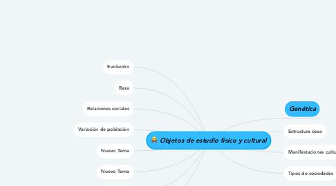 Mind Map: Objetos de estudio físico y cultural