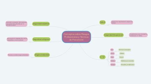 Mind Map: Conceptos sobre Riesgos Profesionales y Técnicas de Prevención