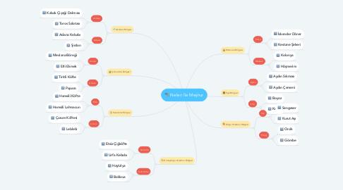 Mind Map: Neleri İle Meşhur