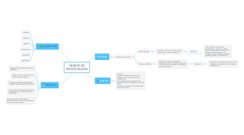 Mind Map: NIVELES DE INVESTIGACION