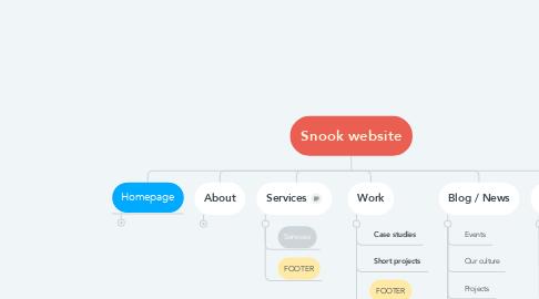 Mind Map: Snook website