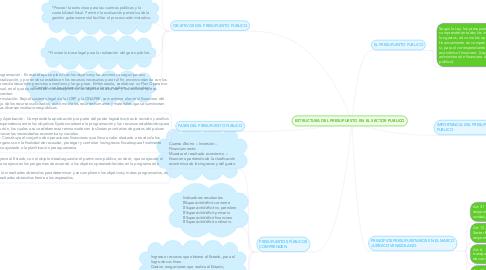 Mind Map: ESTRUCTURA DEL PRESUPUESTO EN EL SECTOR PUBLICO