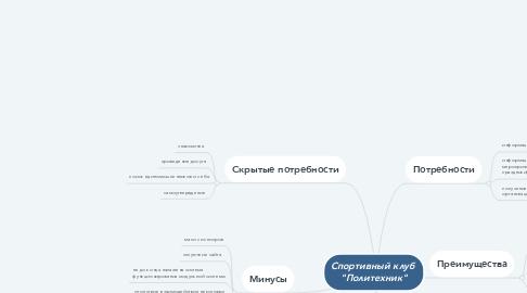 """Mind Map: Спортивный клуб  """"Политехник"""""""