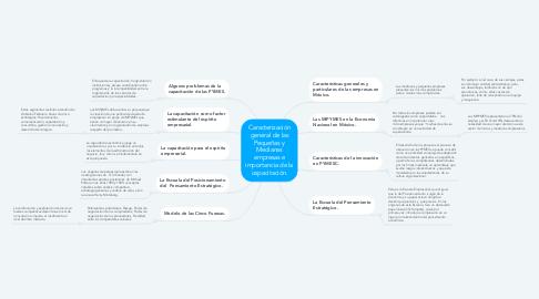 Mind Map: Caracterización general de las Pequeñas y Medianas empresas e importancia de la capacitación.