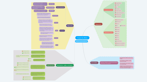 Mind Map: Français des affaires