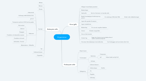 Mind Map: Organismer