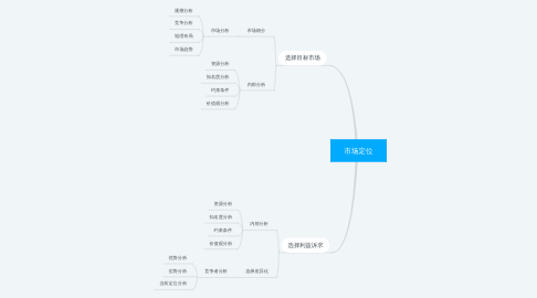 Mind Map: 市场定位