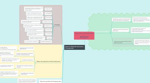 Mind Map: Copy of Copy of Procedimientos y Organizaciones Presupuestario