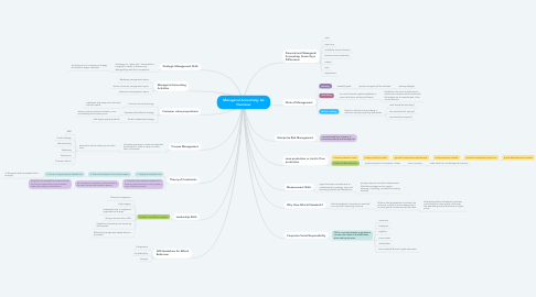Mind Map: Managerial Accounting: An Overview
